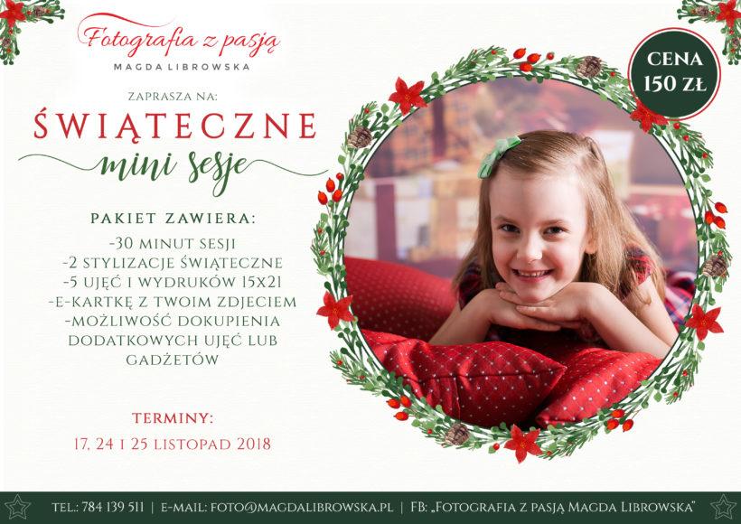 sesje świąteczne Piotrków 2018