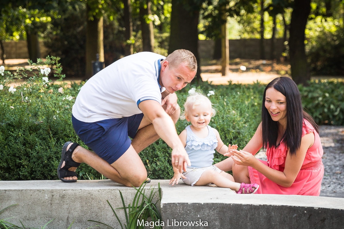 Sesja rodzinna w parku